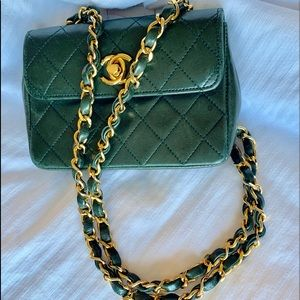 chanel lambskin quilted mini crossbody flap bag